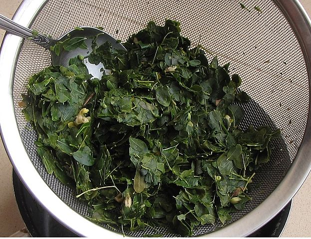 chopped moringa leaves